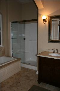 private bathroom with large 2 person shower